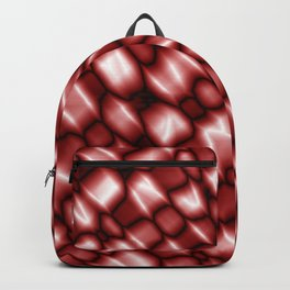 Vapor drips of the ruby diagonal with cracks on the fabric backing. Backpack