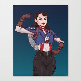 Captain Peggy Carter Canvas Print