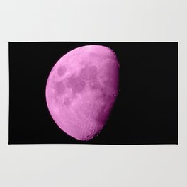 4K Dark Side of the Moon Fuchsia Rug