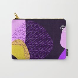 yellow Abstract pattern Carry-All Pouch