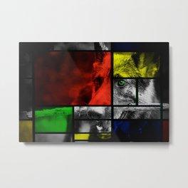 Piet Mondrian meets German Shepherd Metal Print
