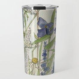 Wildflowers 2 watercolor Travel Mug
