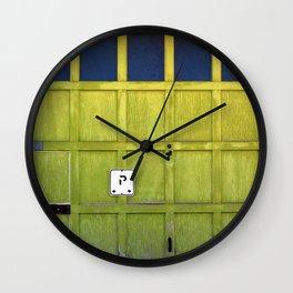 Garage Door Wall Clock