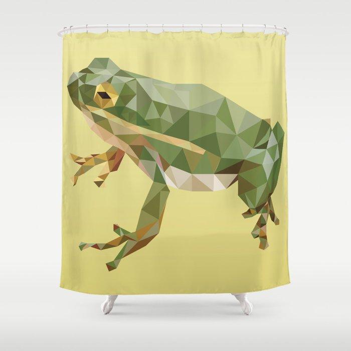 Geometric Frog Shower Curtain