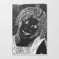valentina Canvas Prints featuring valentina by Maite Trabadelo