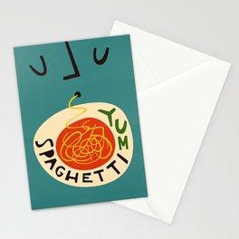 Yum Spaghetti Stationery Cards