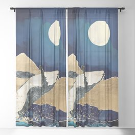 Live Free Sheer Curtain