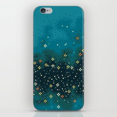 Blue Rift Galaxy (8bit) iPhone & iPod Skin