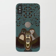 Owls in the Sky iPhone X Slim Case