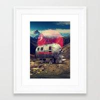 rhino Framed Art Prints featuring Rhino by Ali GULEC
