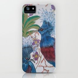 Tropical birds 2 iPhone Case