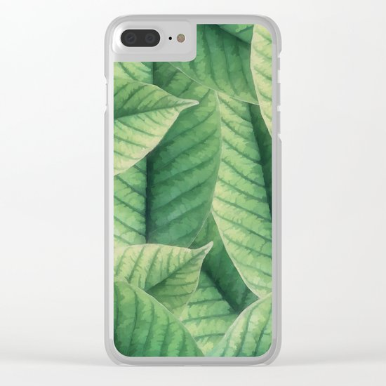 Greenery leaves II Clear iPhone Case