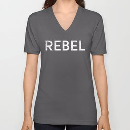 Vintage REBEL Shirt Unisex V-Neck