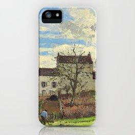 """Camille Pissarro """"Maisons sur un coteau, hiver, environs de Louveciennes"""" iPhone Case"""