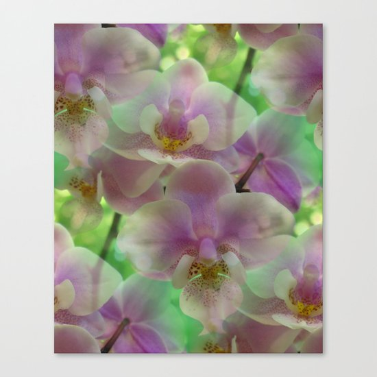 Tropical Pink Orchid Fantasy Canvas Print