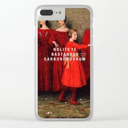 the bastards Clear iPhone Case