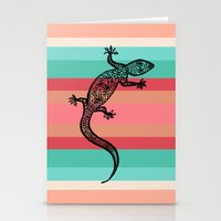 southwest Stationery Cards featuring Southwest Gecko by Lisa Argyropoulos