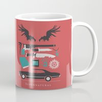 supernatural Mugs featuring Supernatural by Abbie Imagine
