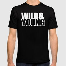 Wild & Young Mens Fitted Tee MEDIUM Black