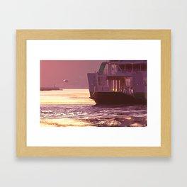 memories of gone summer [Loss of the departure] Framed Art Print