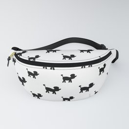 Poodle dog silhouette repeating design Fanny Pack