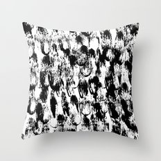 Black Pattern#3 Throw Pillow
