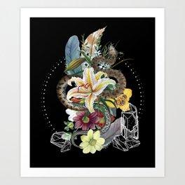 Tough and Tender Magic Design Art Print