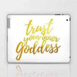 Trust Your Inner Goddess (Gold) Laptop & iPad Skin