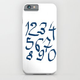 Chiffres bleus iPhone Case