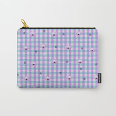 Gingham flowers Carry-All Pouch