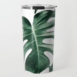 Tropical Monstera Leaves Dream #2 #tropical #decor #art #society6 Travel Mug
