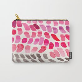 Pretty Pink Pastel Purple Watercolor Colorful Organic Pattern Mid Century Modern Art Carry-All Pouch