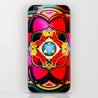 sacred geometry iPhone & iPod Skins featuring Sacred by Sircasm