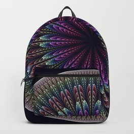 Floral mandala with tribal patterns Backpack