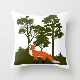 The Forest fox Throw Pillow