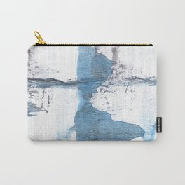 Blue hand-drawn watercolor Carry-All Pouch