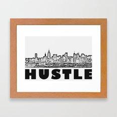 HUSTLE Framed Art Print