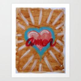 Heart Amor Art Print
