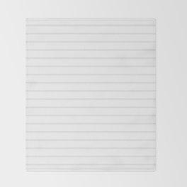 White and Grey Horizontal Stripes Throw Blanket