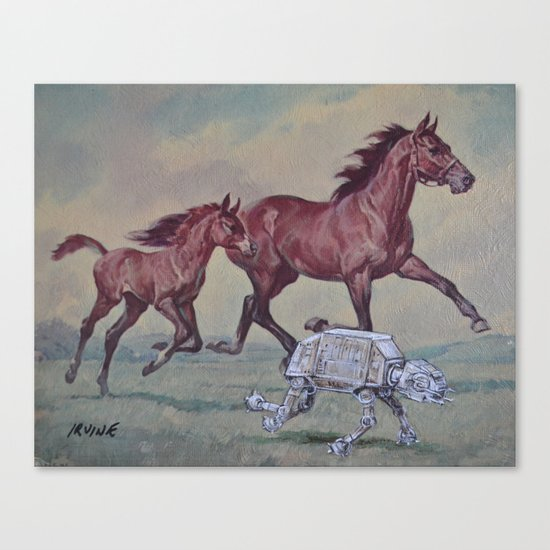 Wild, Young and Free Canvas Print