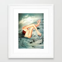 camp Framed Art Prints featuring Camp by Erin Case
