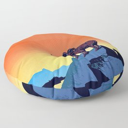 Illustrated Wild Life Preserve Print Floor Pillow