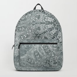 big paisley mandala monochrome pale mint Backpack