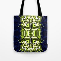 moulin rouge Tote Bags featuring Moulin Vert by Carter Herrington