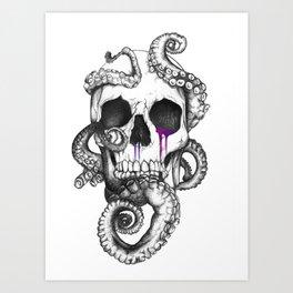 Skull and Tentacles Art Print