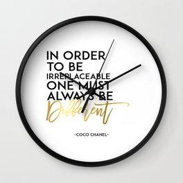 Fashion PosterFashion Wall Art Typography Print Quote Print Art Wall Art Printable Coco Chane l Wall Clock