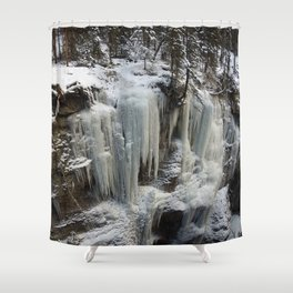 Maligne Canyon Ice Structures Shower Curtain