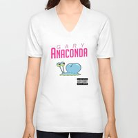 minaj V-neck T-shirts featuring Gary Anaconda (Parody) by TxzDesign
