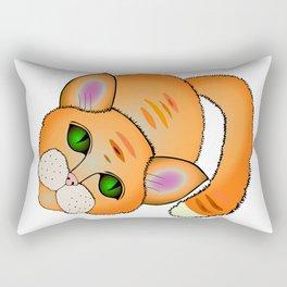 Sad cat Rectangular Pillow
