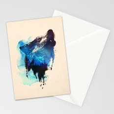 Alone as a wolf Stationery Cards